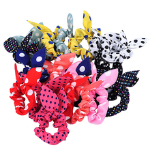 Hot 10Pcs Rabbit Ear Hair Tie Bands Accessories Japan Korean Style Ponytail Holder  5W9B 7EFS