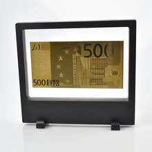 Gold Foil Euro Banknotes 24K Plated Banknote For Souvenir With Showing Stand