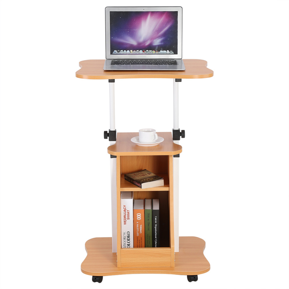 Peachy Us 28 29 17 Off Height Adjustable Laptop Cart Standing Notebook Desk Table Storage Compartment With Wheel In Laptop Desks From Furniture On Home Interior And Landscaping Elinuenasavecom