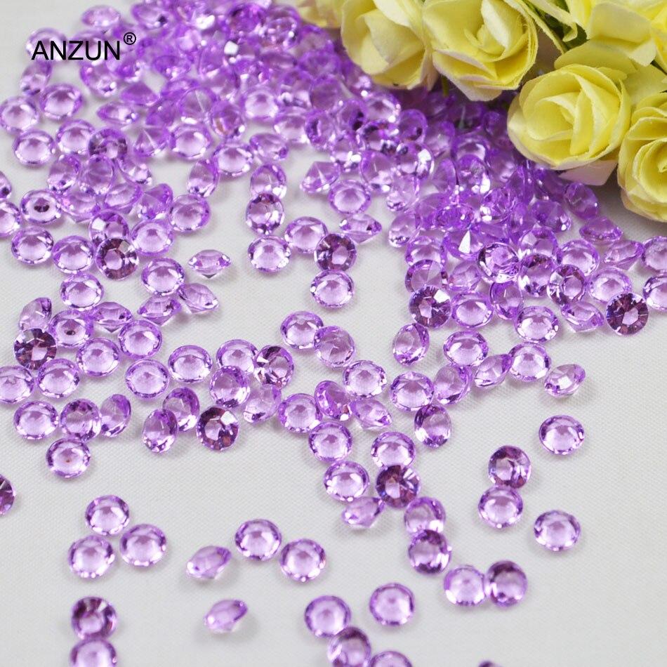 1000 шт 6 мм Свадебная вечеринка алмазные Конфетти Свадебные для декорации стола - Цвет: Light purple