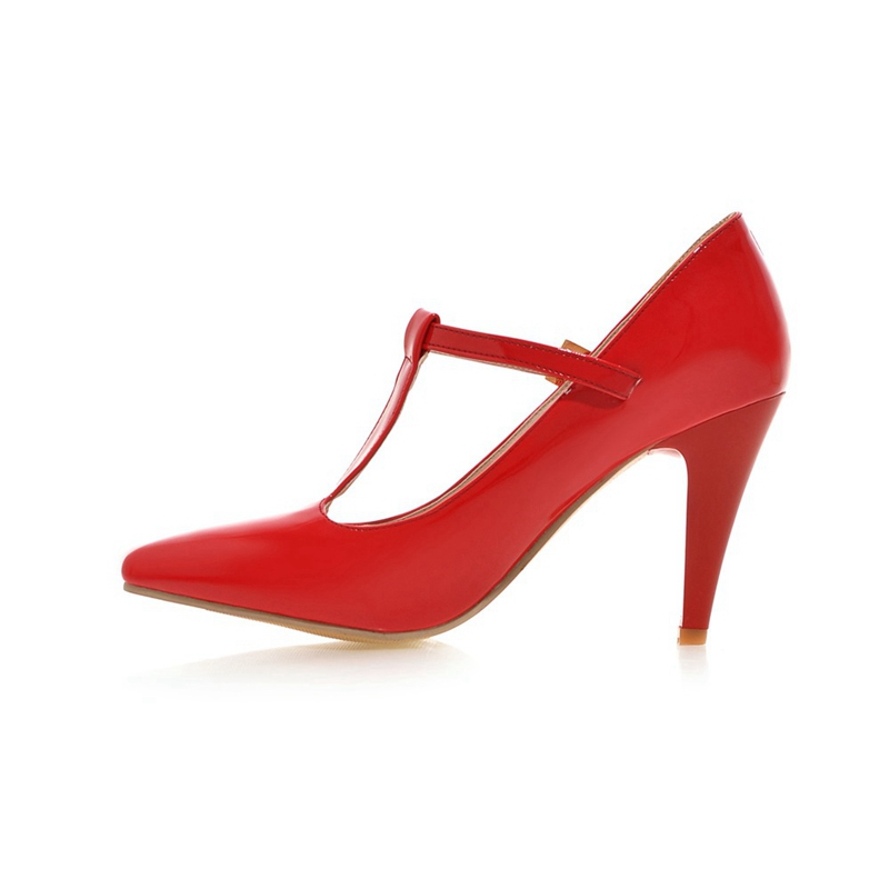 Zapatos Estilo Caliente Mujeres Mujer Tacón Black Moda Asileto Alto 2018  Ql6672 white Metal red Decoración Bombas ... 585be96b834c
