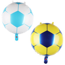 New hot 18 inch blue yellow football balloon children's toys wholesale wedding party decoration balloon baby gift(China)