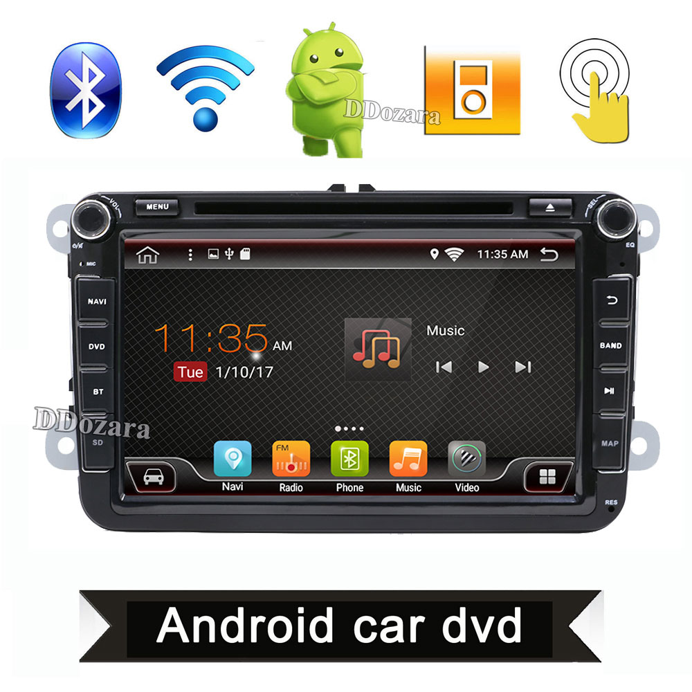 2 din Android 7.1 car dvd player gps radio for VW Volksvagen Passat B5 Golf Seat Leon Bora Polo Seat FREE canbus+map card gift
