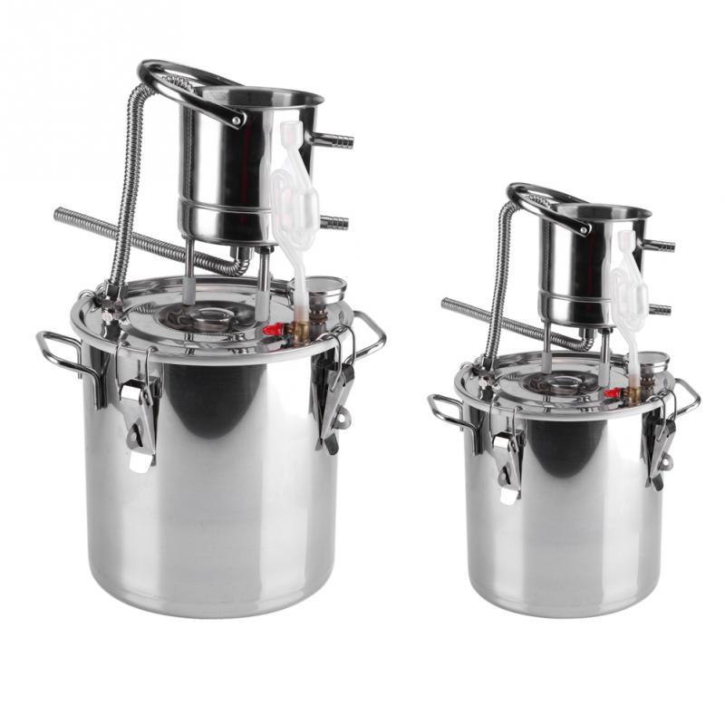 Équipement de distillateur d'eau de Kit de fabrication de vin d'alcool de chaudière d'acier inoxydable de 10L/20L-in Distillateurs from Maison & Animalerie    1