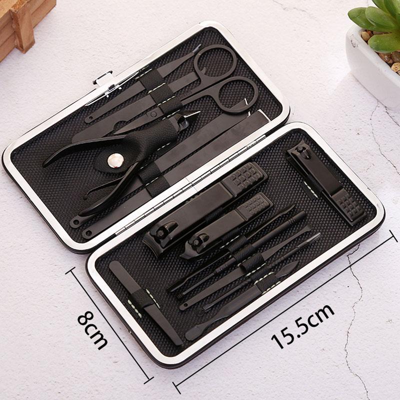 New 15 in 1 pcs Nail Clipper Kit Nail Care Set Pedicure Scissor Tweezer Knife Ear pick Utility Manicure Set Tools