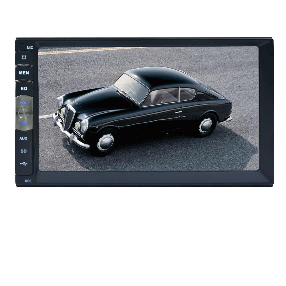 hot !! 2Din Car DVD Car Video Player Touch Screen Panel Car Audio Player Support FM/MP5/USB/AUX/Bluetooth/steering wheel contorl support front rear camera 6 8 inch 2 din car dvd mp5 player bluetooth usb am fm universal touch screen steering wheel control