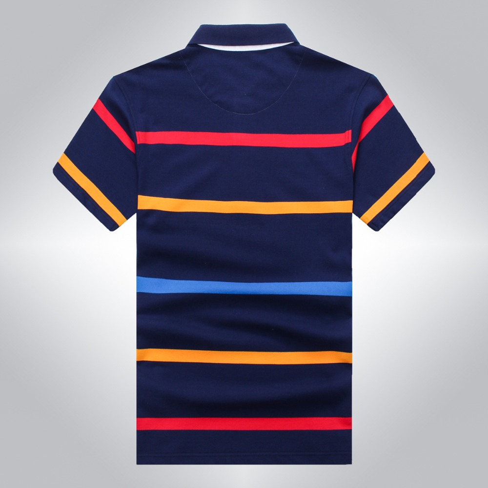 531fef2f6002 ... short sleeve striped Embroidery Casual t Source · Tace   Shark polo  shirt men brand clothing mens stripe cotton slim