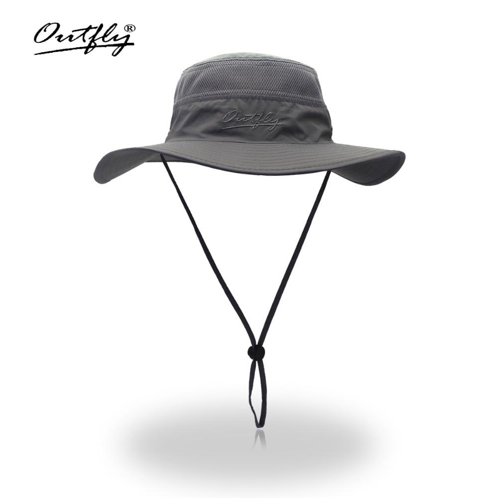 94c2b0944f00c Camouflage Boonie Bucket Hats Camo Fisherman Hats With Wide Brim Sun Fishing  Bucket Hat Breathable mesh