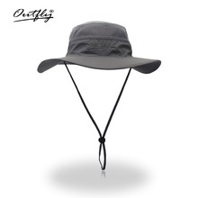 Camouflage Boonie Bucket Hats Camo Fisherman With Wide Brim Sun Fishing Hat Breathable mesh polyester quick cut