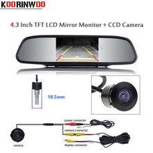 "Koorinwoo Car Rear view Camera 4.3"" TFT LCD Car Monitor Reverse Camera Parking Assistance Camera Rearview Display Monitor"