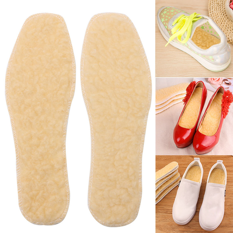 New Casual 1Pair Women Men Winter Warm Thermal Shoes Insoles Thicken Soft Padded Shoe Hard-waering Soft Comfort Hight Quality jackshibo 2017 winter warm real wool shoes insole unisex fur insoles soft comfortable men women compatible shoe insole 1 pair