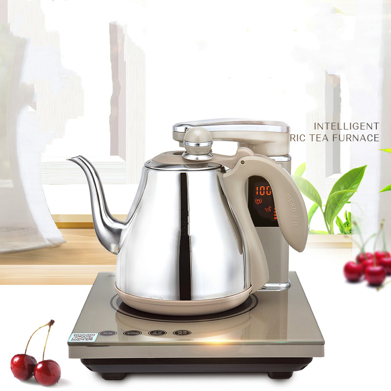 Fully automatic upper water electric kettle 304 steel tea set with Overheat Protection automatic upper water electric kettle pump 304 stainless steel tea set