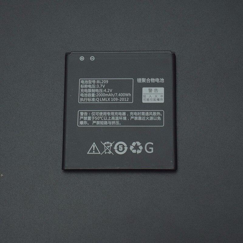 For Lenovo A516 Battery 2000mAh BL209 Back Up Battery Replacement For Lenovo A516 A706 A760 A820E A378T A398T A788T Smart Phone