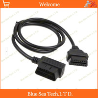 1 pcs 16 Pin OBD2 male to female ELM327 L type extension cord/cable for ECU OBD2 test ,100cm OBD cable