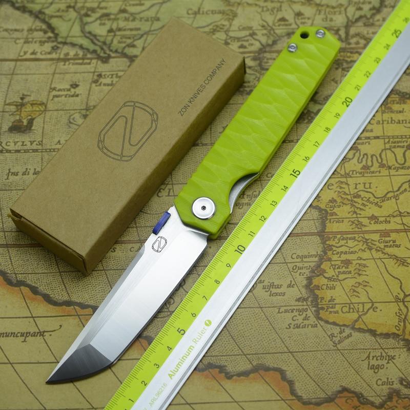 STEDEMON ZKC C03 folding knife 440C blade KVT ball bearing G10 handle outdoor camping multi purpose