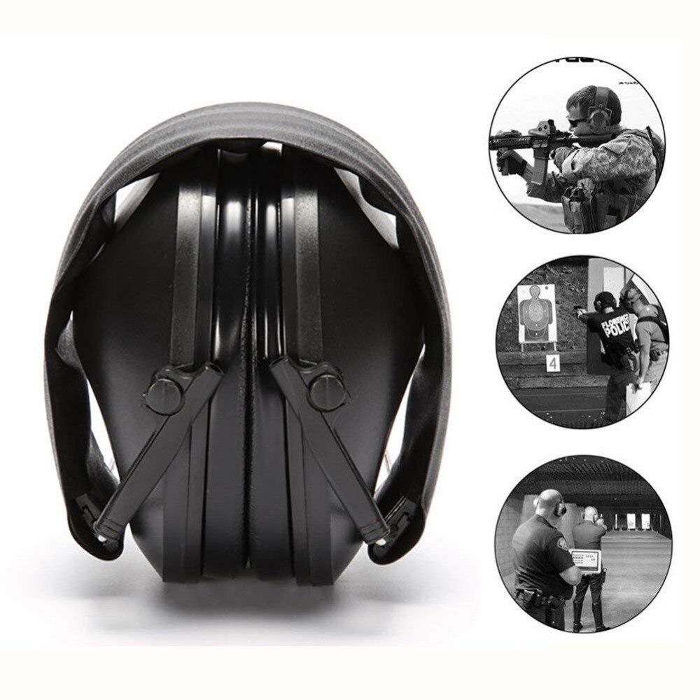 Auricularshooting protetor de orelha earmuff ajustável dobrável anti cancelamento ruído earplugues macio acolchoado cancelamento ruído fone ouvido