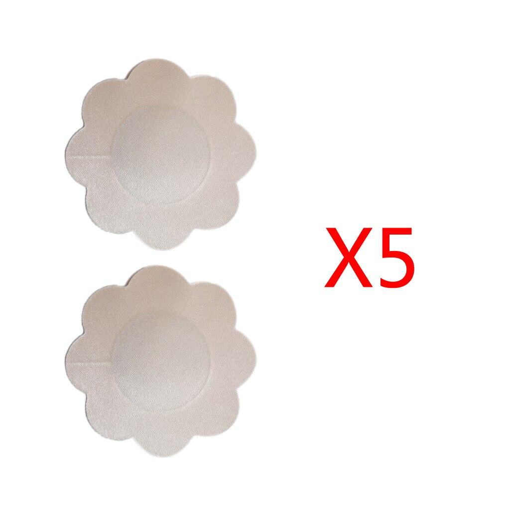 2016 Donne Calde Di Vendita Immediata Del Seno Lift Plum Flower Design Senza Spalline Sottile Nubra Pasties Di Carta Usa E Getta