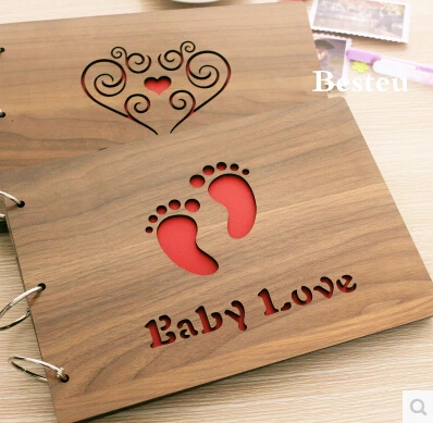 DIY Grade Wood Engraving Printing Photo Albums Send Spree