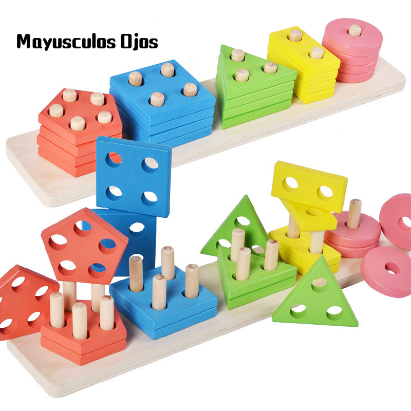 ZH 1PC Geometry Board Puzzle Shape Matching Puzzle Children Educational Toys