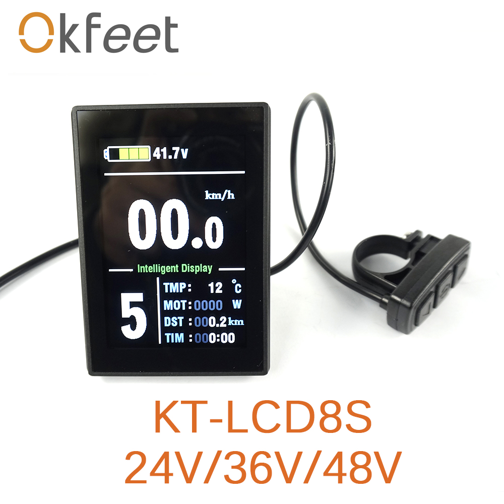 okfeet 2018 New Arrival Electric Bicycle Accessories KT lcd8S Display Electrice Bike Lcd Ebike Sets