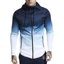 Jacket Men 2018 Winter Spring Gradual Change Overcoat Warm Long Sleeve Top Sale Men's Jacket chaqueta hombre 18SEP12