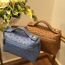 XMESSUN Luxus Hohe Qualität Echten Straußen Leder Haut Kupplung Tasche Designer Handtasche Geldbörse 2021 Neue Mode Trendy Tasche
