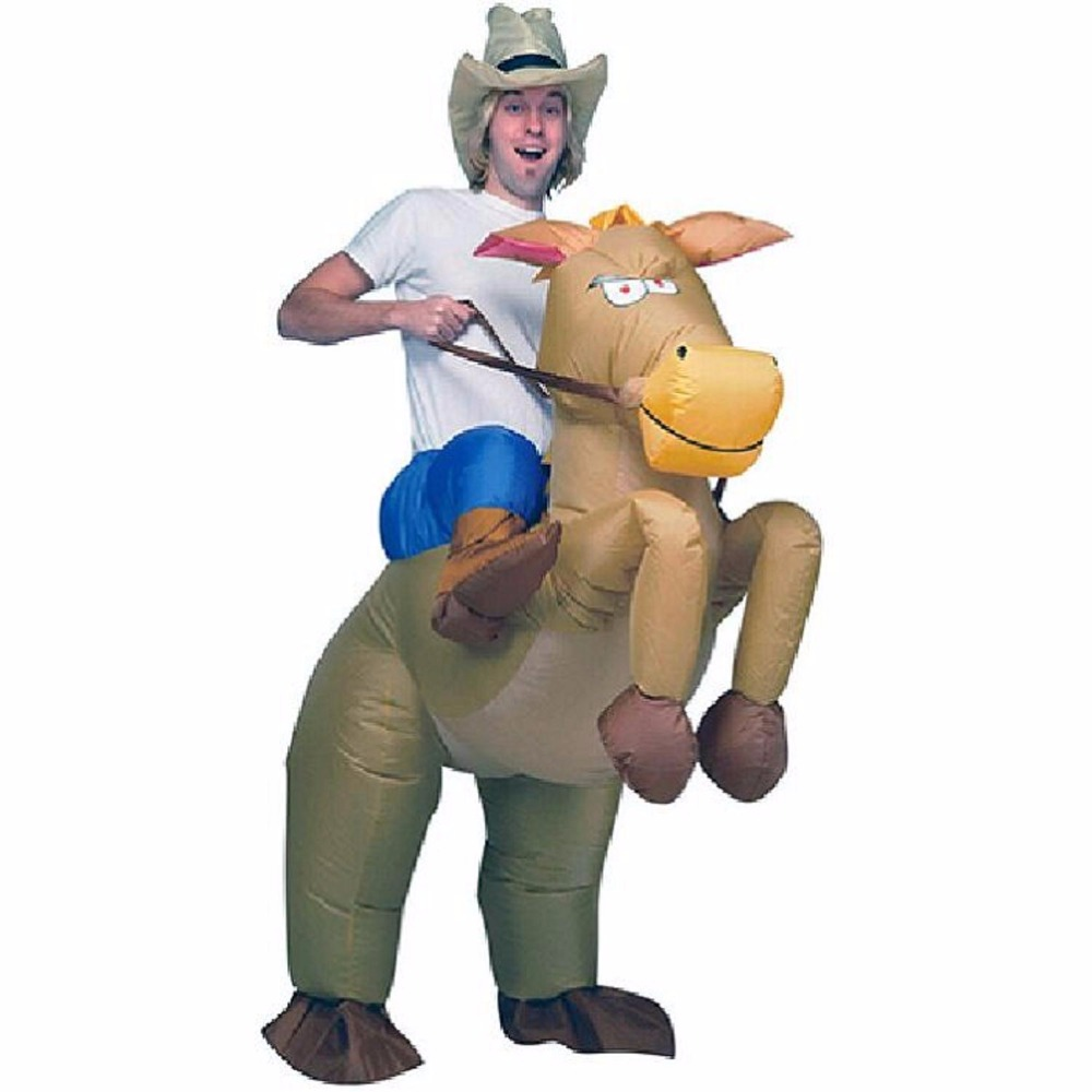 Negro caballo inflable traje vaquero traje de Navidad Cosplay para carnaval  jinete vaquero trajes de Halloween para los hombres en Disfraces fiestas  hombre ... 3de7ad79bc47