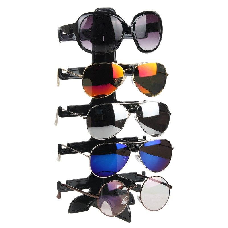 Organizador de jóias Stand 5 Par De Óculos de Plástico Óculos de Sol Óculos de Rack Display Stand Organizador Mostrar Titular Rack