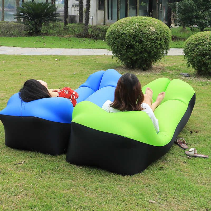Mutli Cores Portátil Saco de Dormir Sofá Preguiçoso Sofá Inflável Camping Air Travel Bag Saco Espreguiçadeira cama de Ar Cama de ar-cheia saco de feijão