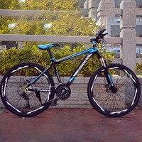 Mountainbike Aluminium Rahmen 27 Geschwindigkeit 26 Zoll Gerade Bike Doppel Disc Bremse Harte Rahmen-in Fahrrad aus Sport und Unterhaltung bei