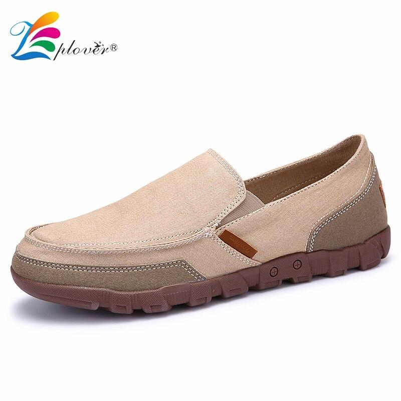 Zplover Big size 38 48 Fashion Men Shoes Casual Canvas Shoes Men Spring Autumn Comfortable Flats