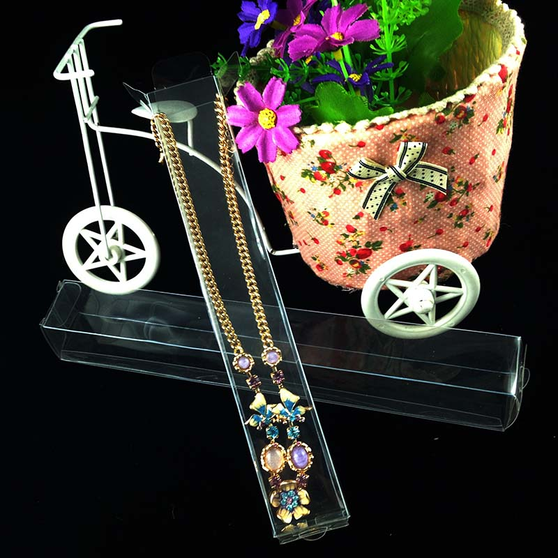 2016 New Hot Wholesale clear PVC Jewelry Display Box Make Up Brush Box Wedding Favor Gift Box Baby Custom Logo MOQ : 1000 ...