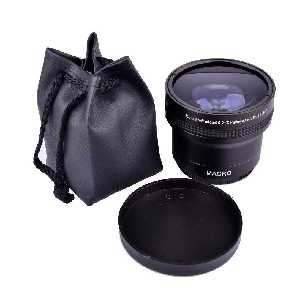 Super 0.21x 52mm HD Fisheye Macro Wide Angle Lens filters for Nikon for Canon D5500 D5300 D5200 D5100 D3200 D7100 D7000 D5300 1set 52mm 0 45x wide angle macro lens for nikon d3200 d3100 d5200 d5100 digital hot