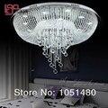 Новый товар  круглая Потолочная люстра для гостиной  хрустальная лампа  современное домашнее освещение