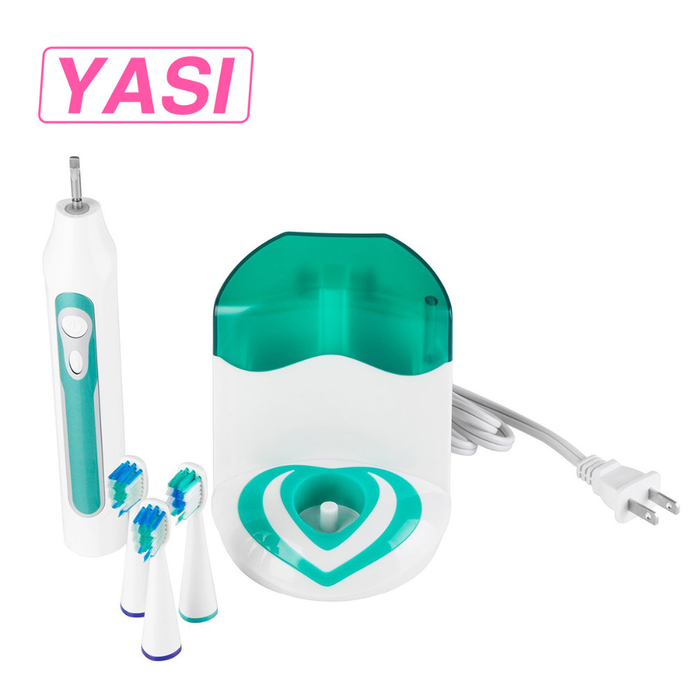 YASI FL-A12 Dental Care Electric Rechargeable Ultrasonic Toothbrush With UV Sanitizer High Quality With 3 Pcs Replacement Heads yasi fl a12 ultrasonic vibration rechargeable electric power teeth care toothbrushes with three brush head 5 mode protection