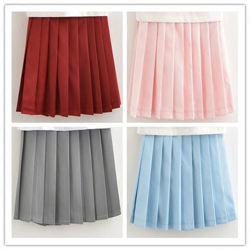 Hot Schoolgirl Pleated Half Skirt Japanese Korean Version Short Skirts School Uniform Cosplay Student Jk Academy Daily Skirt Xxl