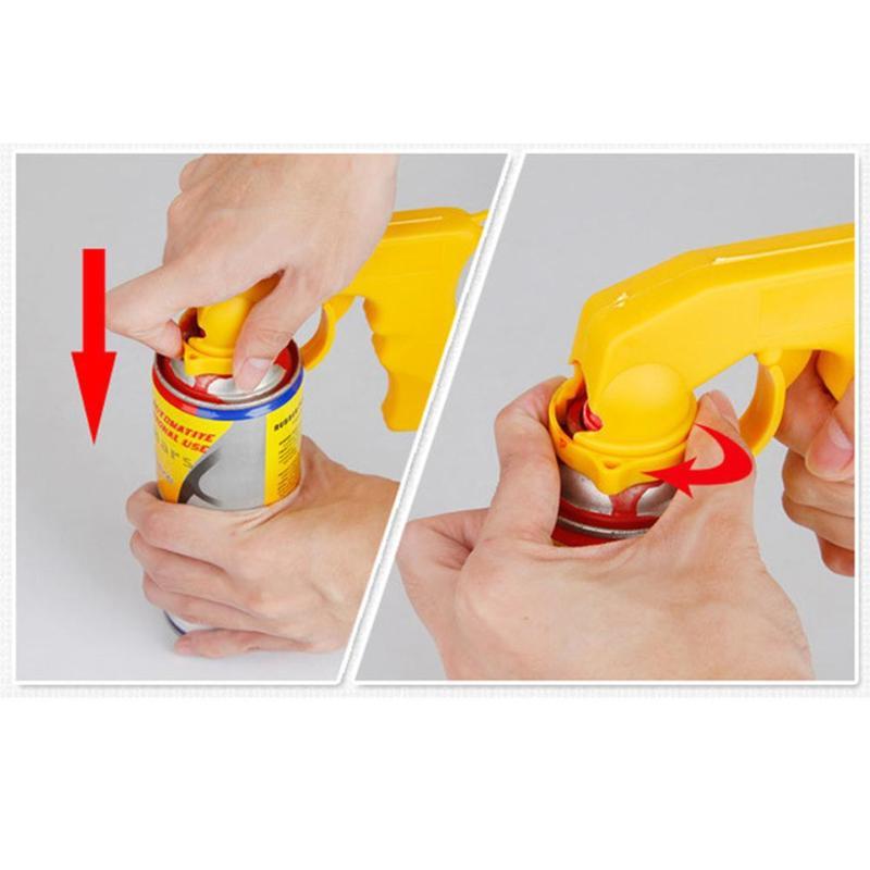 Купить с кэшбэком Spray Adaptor Paint Care Aerosol Spray Gun Handle with Full Grip Trigger Locking Collar Car Maintenance