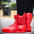 Fashion Mens boots brand 2017 new design IYOUWOQU Brand Men shoes Autumn And Winter Motorcycle boots Men's Ankle boots red blask