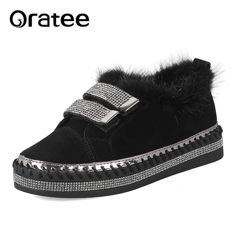 New Real Otter Fur Genuine Leather Women Platform Patchwork Flats Loafers Slip on Girl Leisure Moccasins