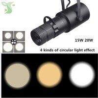 15 Вт 20 Вт COB прожекторы трек светодиодный светильник Увеличить свет освещения 4 вида освещения потолка типа трека тип рельса