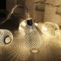 20 светодиодов Свет Шнура АА Батарейках Рождественские Гирлянды Свет Фея Рождество Свадьба Фестиваль Украшения Дома полые кулон