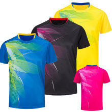 Free Printing Badminton shirts , Tennis shirt Male/Female , Quick dry Table Tennis shirt , Tennis sports training shirts 3070AB(China)