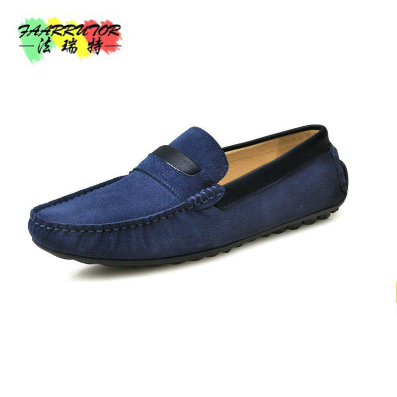 Hight Quality Brand New US 6-10 Cow Suede Leather Moccasins Mens Slip On Loafers Casual Driving Car Shoes Boat Shoes new men s octopus leather penny loafers crocodile slip on driving shoes mens casual shoes moccasins business boat shoes branded