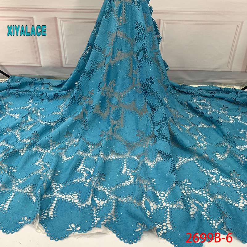 2019 High Quality Cord And Guipure Lace Fabric Voile Lace Fabric Swiss Lace African Lace Fabric African Lace Fabric YA2699B-6