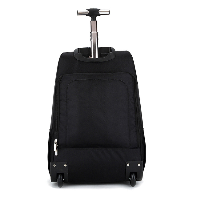 MAGIC UNION Men's Travel Bag Wheeled Backpack Large Rolling Waterproof School Book Bag Daypack Travel Carry On Luggage Suitcase 1