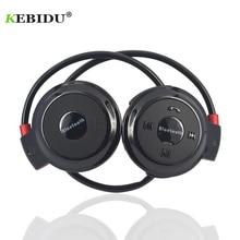 Kebiduスポーツワイヤレスbluetoothヘッドフォンtfカード + fm + MP3 ステールイヤホンヘッド通話ios android携帯