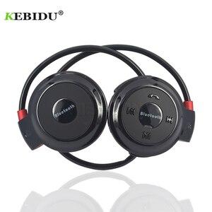 Image 1 - Kebiduスポーツワイヤレスbluetoothヘッドフォンtfカード + fm + MP3 ステールイヤホンヘッド通話ios android携帯