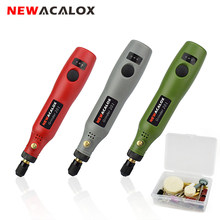 NEWACALOX USB 5V DC 10W Mini Wireless Grinding Machine Variable Speed Rotary Tools Kit Drill Engraver Pen for Milling Polishing(China)