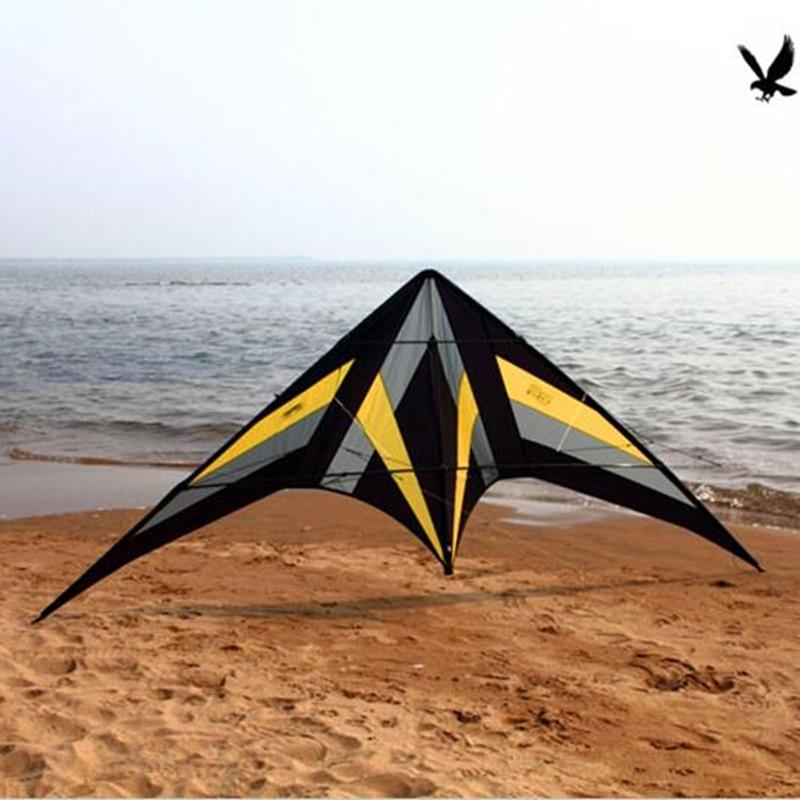 送料無料高品質 2.5 メートルファルコンカイトローリングバレエ凧ハンドルとライン電源凧フライング屋外おもちゃ -