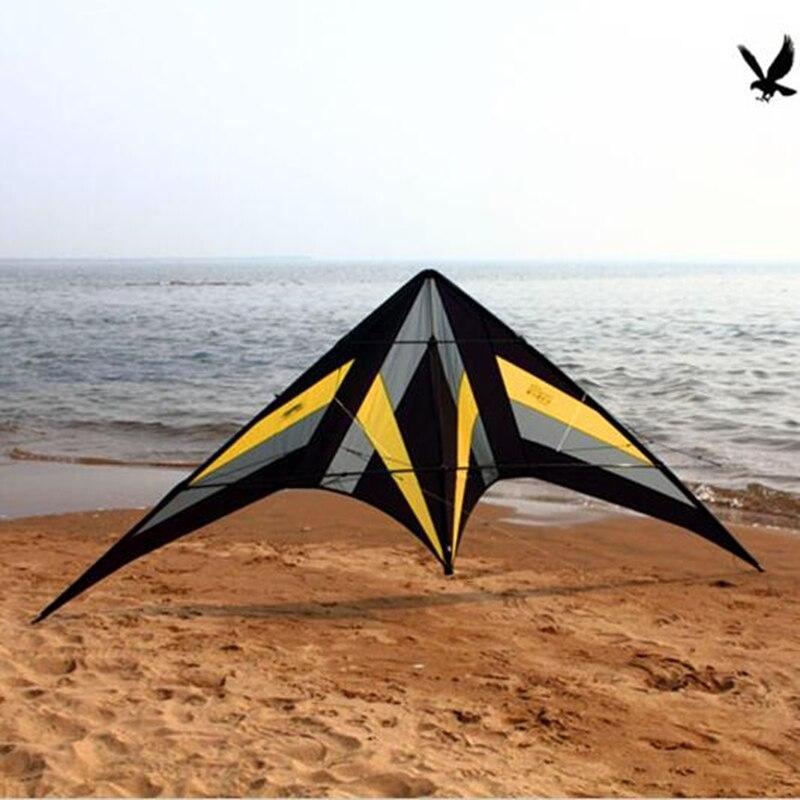 Livraison gratuite haute qualité 2.5m falcon cerf-volant roulant ballet cascadeur cerfs-volants avec poignée ligne puissance cerf-volant volant jouets de plein air plus élevés